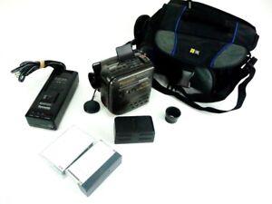 Panasonic Palmcorder PV-400 VHS C Camcorder digital E15 AFx8 VTG BUNDLE w/ tapes