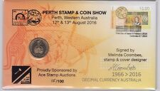 Coin Australia $1 decimal currency PNC cover Perth Stamp & Coin Show overprint