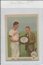 1959 Fleer Ted Williams Baseball #32 MVP  Nm/Mt High End Set break