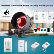 Standalone Home Office Shop Security Alarm System Kit Wireless Loud Siren Horn