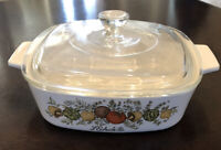 Rare Vintage Corning Ware Spice Of Life L'Echalote A-1-B 1Qt Dish w/ Lid Stamped
