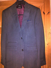 NEW NEXT TAILORED MANS SUIT JACKET GREY BEAUTIFULLY FULLY LINED SIZE 36 REGULAR