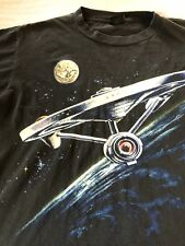 Rare Vintage Star Trek Tshirt Original Enterprise Ship Front And Back Graphic Xl