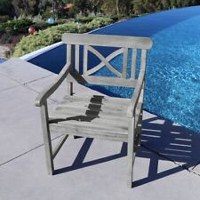 V1298 Renaissance Outdoor Hand-scraped Hardwood Armchair