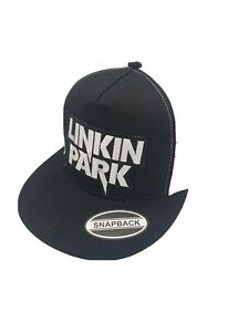 Linkin Park Embroidered Patch Black w/ White Mesh baseball cap