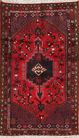Tribal Geometric Hamadan Oriental Area Rug Wool Hand-Knotted Nomad Carpet 3'x5'