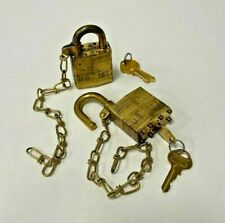 Master Lock Military Padlock Withchain And Keys Set Of 2
