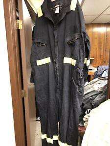 Bulwark FR FRC Men's Long Sleeve Coverall Work Wear Black HRC 58-LN Hi Vis