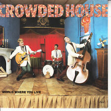 """CROWDED HOUSE  World Where You Live PICTURE SLEEVE 7"""" 45 rpm vinyl record NEW"""