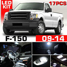 18x White LED Interior & Exterior Light Package Kit 2009-2014 Ford F150 F-150