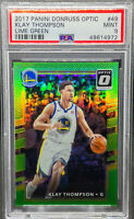 Klay Thompson 2017-18 Donruss Optic Lime Green Prizm /175 PSA 9 MINT POP 2