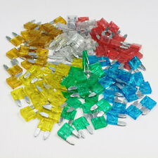 120 Piece Mini Blade Fuse Assorted Kit Mixed Car Van Bike Amp Amps A