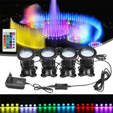 4in1 RGB LED Underwater Submersible Pond Spot Lights Garden Tank