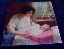 R. Atkinson Fox, Mother, Baby, Fish, Rare Salesman Sample Calendar Print 1920s