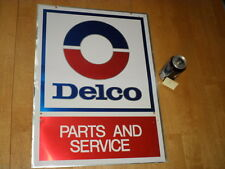 DELCO -- PARTS & SERVICE, ADVERTISING AUTO METAL WALL SIGN, OFFICIAL LICENSED