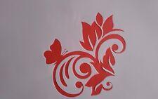 1298 Schablonen Blume Stencil Mylarfolie Vintage-Stanzschablone Shabby Tattoo