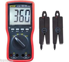 NEW ETCR4100 Double Clamp Digital Phase Meter ETCR-4100