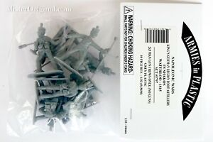 Armies in Plastic Napoleonic Wars British KGL Foot Artillery Crews Shakos 54mm