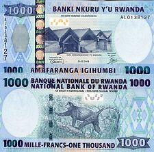 RWANDA 1000 Franc Banknote World Paper Money UNC Currency Pick p-31b Monkey Bill