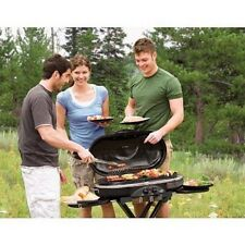 Bbq Propane Grill Portable Trailer Garden Wheels Barbeque Trolley Smoker Cooking