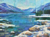 Emiliya Lane 9x12 oil painting original signed contemporary impressionism