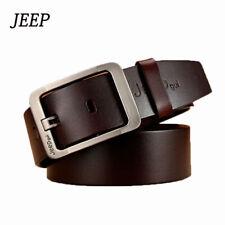 JEEP Men Belt Genuine Leather Belt Casual Business Dress Metal Buckle Jeans Belt