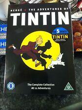 The Adventures Of Tintin (DVD, 2011, 5-Disc Set) - Complete 21 Adventures - NEW