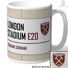 Personalised West Ham United Mug. London Stadium Sign Gift Idea For Football Fan