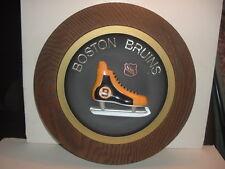 1970's NHL Boston Bruins Hockey Skate Wall Plaque