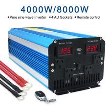 4000w / 8000w pure sine wave power inverter car van converter DC 12v to AC 240v