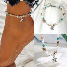 Women Bead Shell Anklet Ankle Bracelet Barefoot Sandal Beach Foot Jewelry Gift