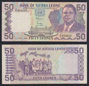 Sierra Leone 50 leones 1988 BB+/VF+  A-06