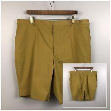 1960s Bermuda Shorts / 60s Mod Gold High Waist Shorts Swim Trunks / XL