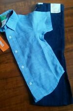 Gymboree Boy's Short Sleeve Button up Woven Dress Pants NEW Tags Attached 2T $60