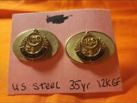 UNITED STATES STEEL FAIRLESS 12K GOLD FILL 35 YR SERVICE CUFFLINKS