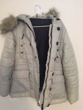 Witchery Puffer jacket Size 10-12 silvery grey