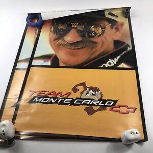Lot of 17 Vintage Nascar Posters Dale Earnhardt Team Monte Carlo 500 Race