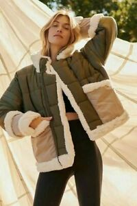 FREE PEOPLE MOVEMENT GREEN REVERSIBLE COCO JACKET (SIZE S) RRP £278