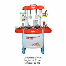 Cucina Giocattolo Multifunzione Per Bambini Con Luci e Suoni 50 x 31 x 63 cm B18