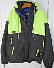Columbia Vintage Florescent Vamoose Men's Large Coat Jacket Waterproof Ski HOOD