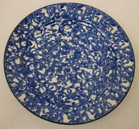 "Vintage Stangl Town & Country Blue Sponge Ware 8"" Salad Plate"