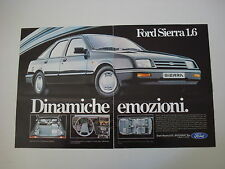 advertising Pubblicità 1983 FORD SIERRA 1.6