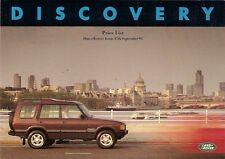 Land Rover Discovery 1993-94 UK Market Prices & Options Brochure MPi Tdi V8i S
