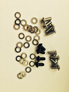 Bike Frame/Bottle cage bolts + washers SS HTS button Head M5 x 10, 12, 16, 20mm