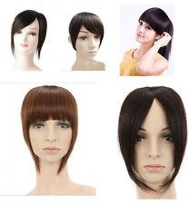 100% real human hair clip-in hair extension bang/fringe hand made weft bangs