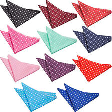 DQT Woven Polka Dot Casual Formal Handkerchief Hanky Pocket Square + GET 1 FREE