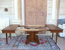Tavolo allungabile in noce epoca Umbertina, restaurato