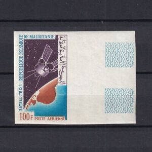 MAURITANIA 1966, Sc# C52, Imperf., with margins, D-1 Satellite, MNH