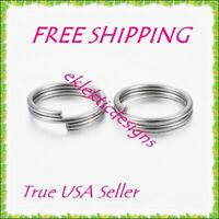 6mm 50pc 1.4mm 304 Surgical Stainless Steel Double Split Jump Rings FREE SHIP
