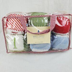 Pottery Barn Kids PBK Baby's 1st Blocks Cubes Soft Knit Embroidered ABC NIP